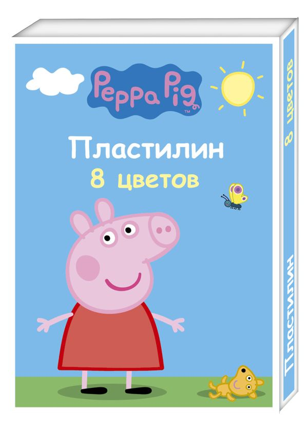 "Пластилин 8 цв. ""Peppa Pig"" умница"