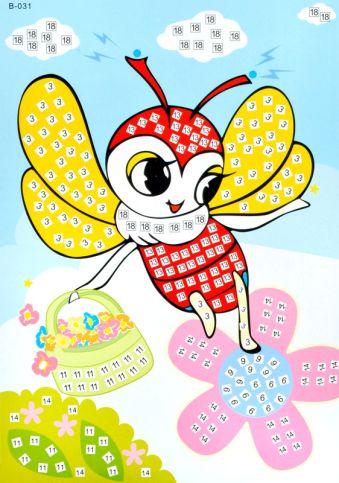 Мозаика-стикеры. Пчелка - Мозаика-стикеры (B031)
