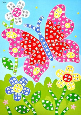 Мозаика-стикеры. Бабочка -мозаика-стикеры (B007)