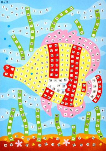 Мозаика-стикеры. Рыбка -мозаика-стикеры (B015)