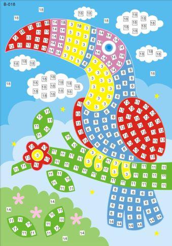 Мозаика-стикеры. Тукан -мозаика-стикеры (B018)