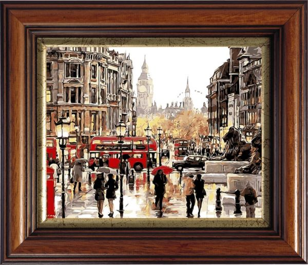 Раскраски по номерам ТМ Color KIT. Небо Лондона - картина по номерам (CG405)