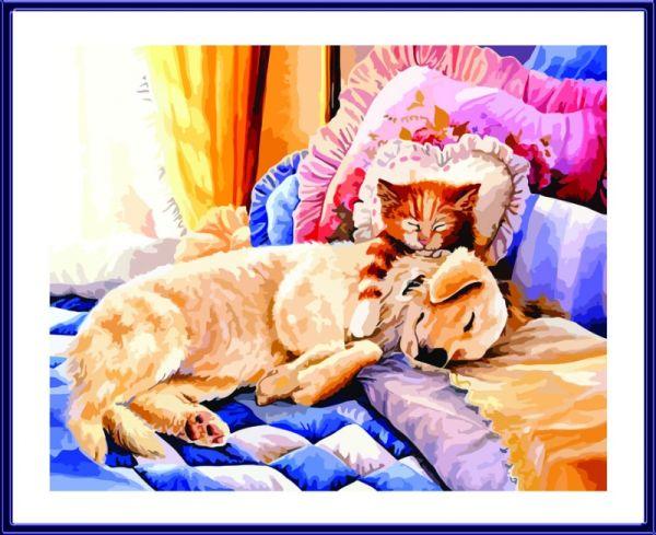 Раскраски по номерам ТМ Color KIT. Сладкие сны - картина по номерам (CG636)