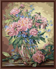 Раскраски по номерам ТМ Color KIT. Букет лесных цветов-картина по номерам (CG081)