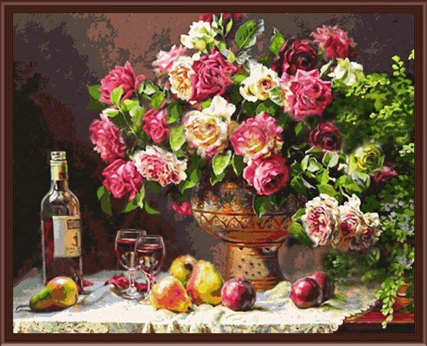 Раскраски по номерам ТМ Color KIT. Натюрморт с розами - картина по номерам (CG278)