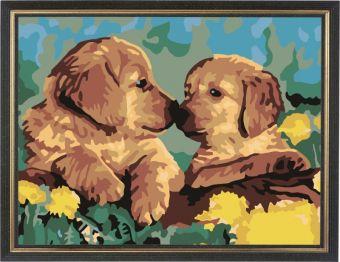 Раскраски по номерам ТМ Color KIT. Милые щенки - картина по номерам (CE102)