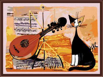 Раскраски по номерам ТМ Color KIT. Musical cat - картина по номерам (CE005)