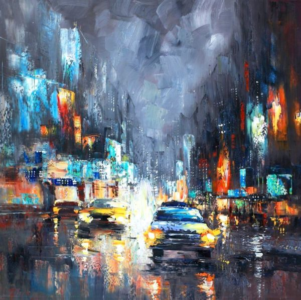 Раскраски по номерам ТМ Color KIT. Ночное такси - картина по номерам (CF115)