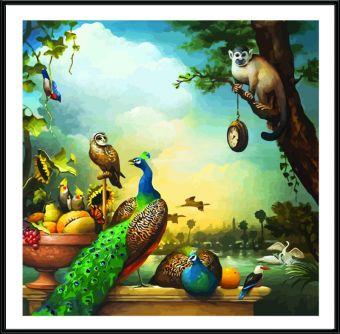 Раскраски по номерам ТМ Color KIT. Натюрморт с павлинами - картина по номерам (CF022)