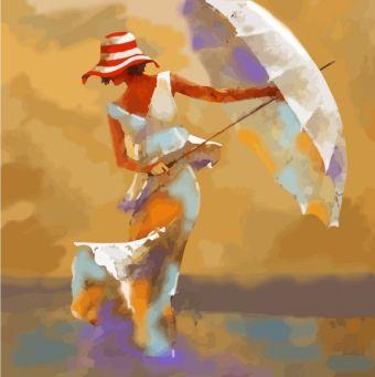 Раскраски по номерам ТМ Color KIT. Пляжный зонтик - картина по номерам (CF113)