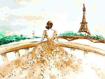 Раскраски по номерам ТМ Menglei. Парижанка - картина по номерам (MG628)