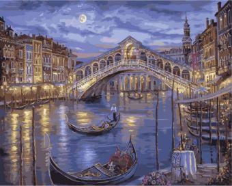 Раскраски по номерам ТМ Menglei. Венеция в огнях - картина по номерам (MG2047)