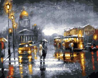 Раскраски по номерам ТМ Menglei. Город в огнях - картина по номерам (MG2035)