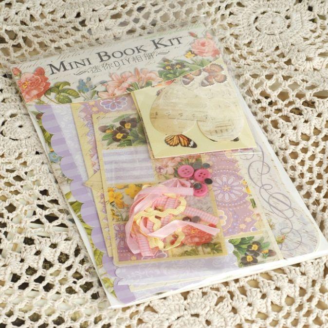 Скрапбукинг. Цветы - Фотоальбом mini - набор д/скрапбукинга (MBK003)