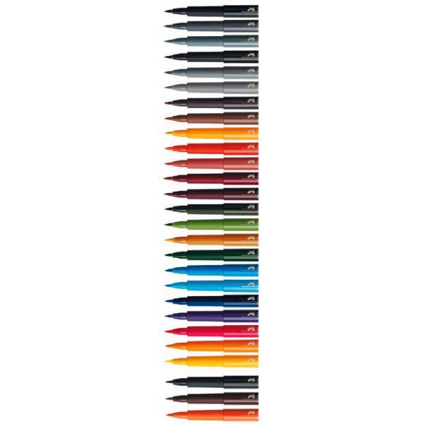 Капиллярные ручки PITT® ARTIST PEN BRUSH, зелено-золотой, в картонной коробке, 10 шт.