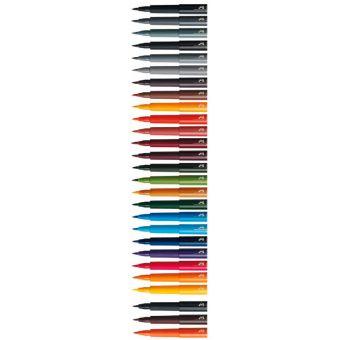 Капиллярные ручки PITT® ARTIST PEN BRUSH, темно-красный хром, в картонной коробке, 10 шт.