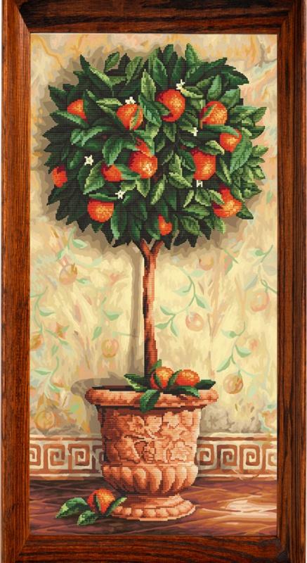 Мозаичные картины. Апельсиновое дерево -мозаичная картина (80002)