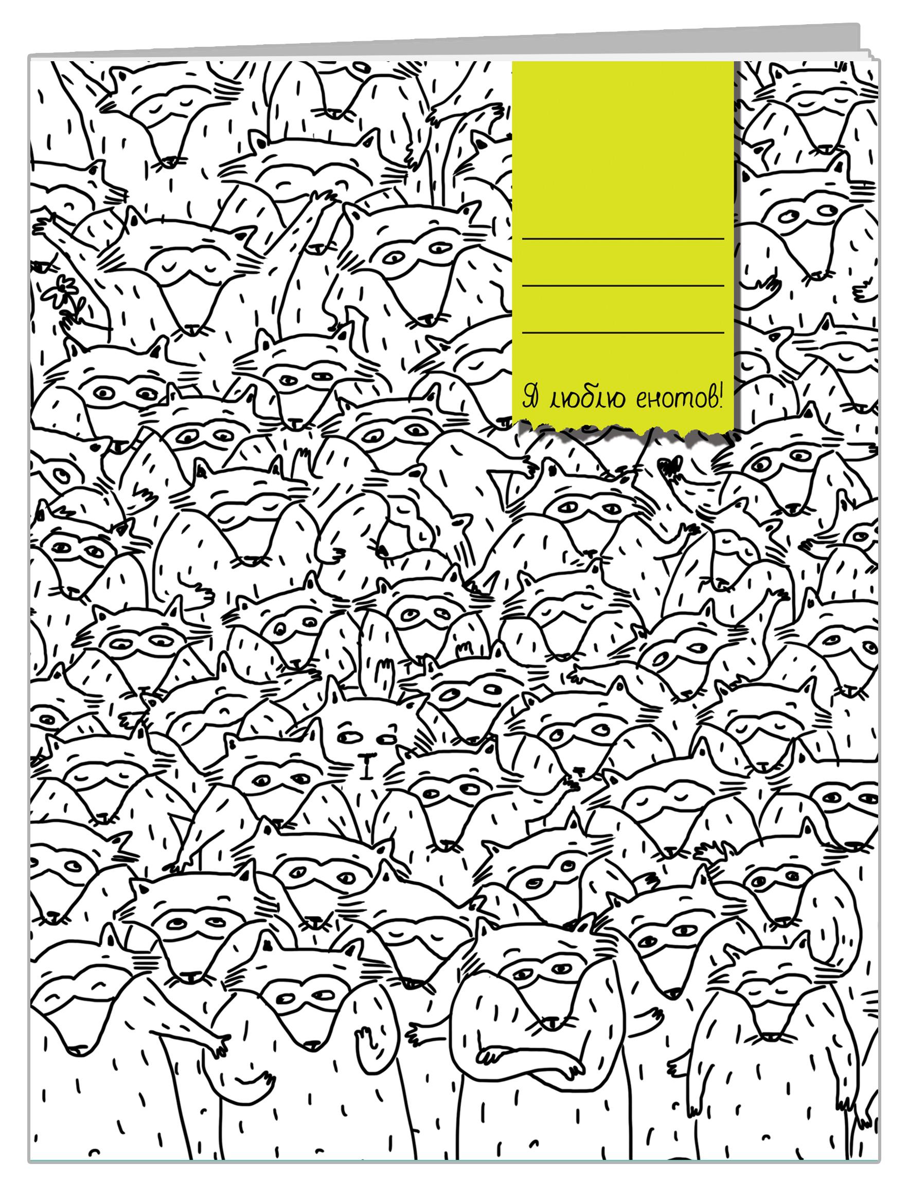 Тетрадь Еноты (48 л., клетка) адреса петербурга 48 62 2013 ленфильм