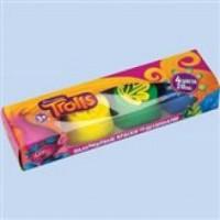 """Пальчиковые краски """"Тролли"""", 4 цветов*20 мл, в картонной коробке 87512 пальчиковые краски mattel fisher price 12 цветов 25 мл"""