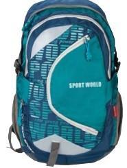 Рюкзак SPORT WOLD (Cине-голубой). Размер 48,5*31*15* см, 2 отделения, внешний карман на замке-липучке, внутренний карман, боковые карманы из сетки, уп
