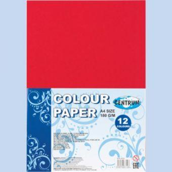 Набор декоративной бумаги для детского творчества, формат А4, 12 цветов, 180 гр,двусторонняя окраска. 87716