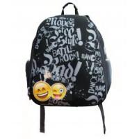 """Рюкзак каркасный """"Смайлы"""", формованный из полимеров, материал: нейлон, полиэстер, 2 отделения на молнии, 2 боковых кармана, светоотражатели, широкие л"""