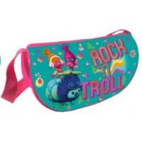 """Сумка для девочки """"Тролли"""", размер 120*220*70 мм, хорошо держит форму за счет пластикового каркаса, полиэстер 600 ден. 87608"""