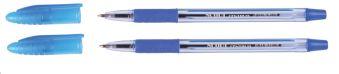 Набор ручек SCOUT  синяя 0,7 мм,  2шт  (80088), с эргономической резинкой в индивидуальной упаковке ПВХ с подвесом 80094