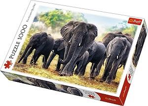 Пазл 1000 дет. - Африканские слоны