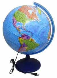 Глобус Земли политический 400 мм.с подсветкой Классик Евро арт.Ке014000245