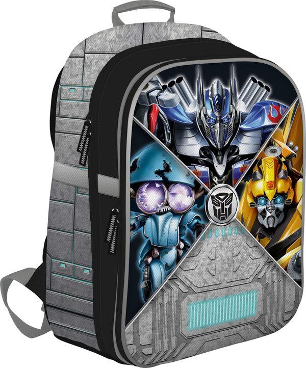 Рюкзак. Каркасный, EVA фронтальная панель. Размер: 39 х 28 х 15 см. Transformers Prime
