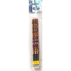 """Набор карандашей ч/г с ластиком НВ, """"Смайлы"""" 3шт,(87001)  в индивидуальной упаковке ПВХ с подвесом 88161"""