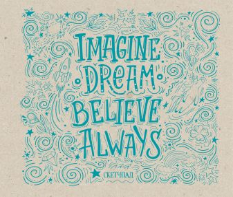 Imagine. Dream. Believe. Always. Скетчбук (230х180мм, офсет 160 гр., 40 страниц, евроспираль)