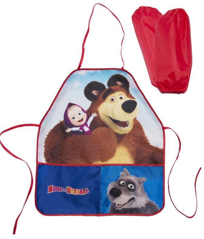 Фартук для труда с нарук. «Маша и Медведь» мишка