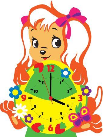 Часы детские. Собачка - часы - набор для творчества из Фоамирана (CL016)
