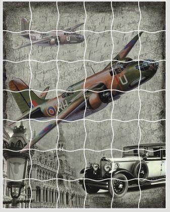 Мозаика-стикеры. Самолет - пазлы-стикеры (XD08)