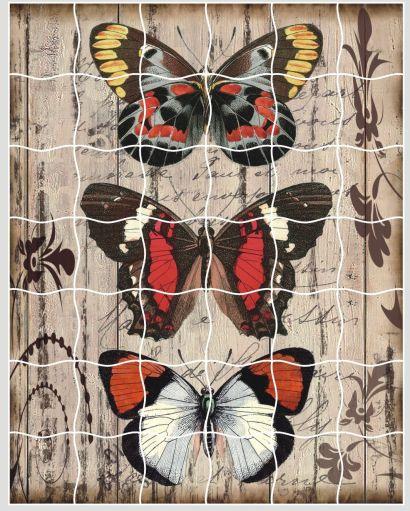 Мозаика-стикеры. Панно из бабочек - пазлы-стикеры (XD02) - фото 1