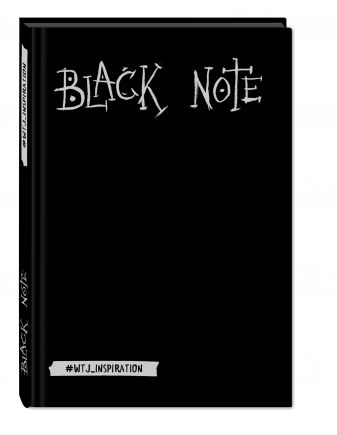 Комплект. Black Note. Креативный блокнот с черными страницами (твердый переплет) + Комплект из 2-х белых ручек и белого карандаша WTJ_INSPIRATION