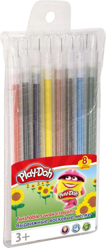 PDEB-US2-TWCR-8 Восковые мелки. Набор 8 шт 8 цв, выдвижныеРазмер: 16 х 10 х 1 см. Play Doh