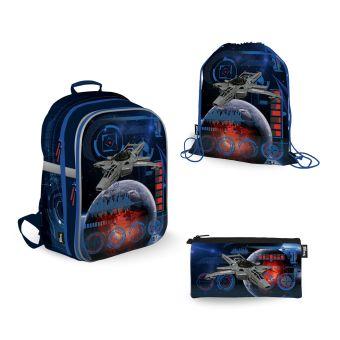 SKEB-UT8-866-SET31 Набор школьника. Рюкзак эргономичный. Пенал для канцелярских принадлежностейю Мешок для обуви. Размер: 39 х 28 х 15 см.Seventeen