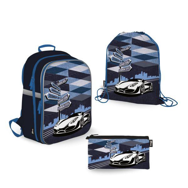 SKEB-UT9-866-SET31 Набор школьника. Рюкзак эргономичный. Пенал для канцелярских принадлежностейю Мешок для обуви. Размер: 39 х 28 х 15 см.Seventeen