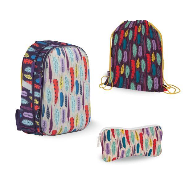 SKEB-UT5-866-SET31 Набор школьника. Рюкзак эргономичный. Пенал для канцелярских принадлежностейю Мешок для обуви. Размер: 39 х 28 х 15 см.Seventeen