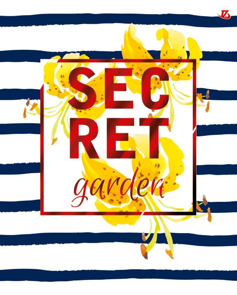 "Папка-тетр 7БЦ кольц мех со смен блок 2*60л 4 раздел А5 кл 8537-EAC глянц лам, тисн фольг Sev ""Secret Garden"""