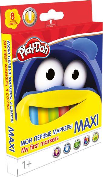 PDEB-US1-5MB-8 Фломастеры. Набор 8 цв, MAXI с безопасным наконечником. Play Doh. Размер: 16,4 х 12,8 х 1,5 см.