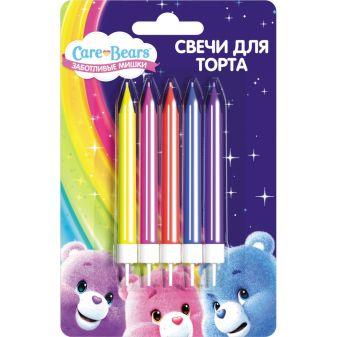 """Набор свечей с держат, 5шт*6,5см,""""Care Bears"""""""