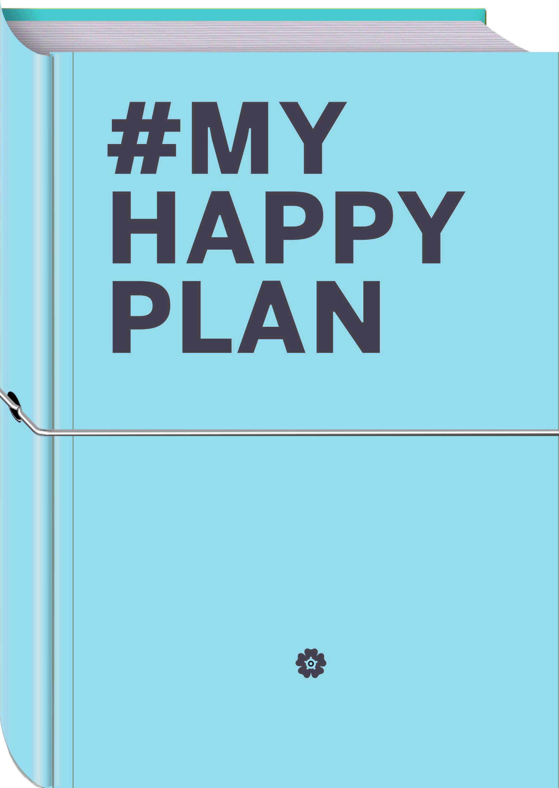 My Happy Plan (Морской) (большой формат 165х240, лента ляссе, серебряная резинка) планер my happy plan мятный