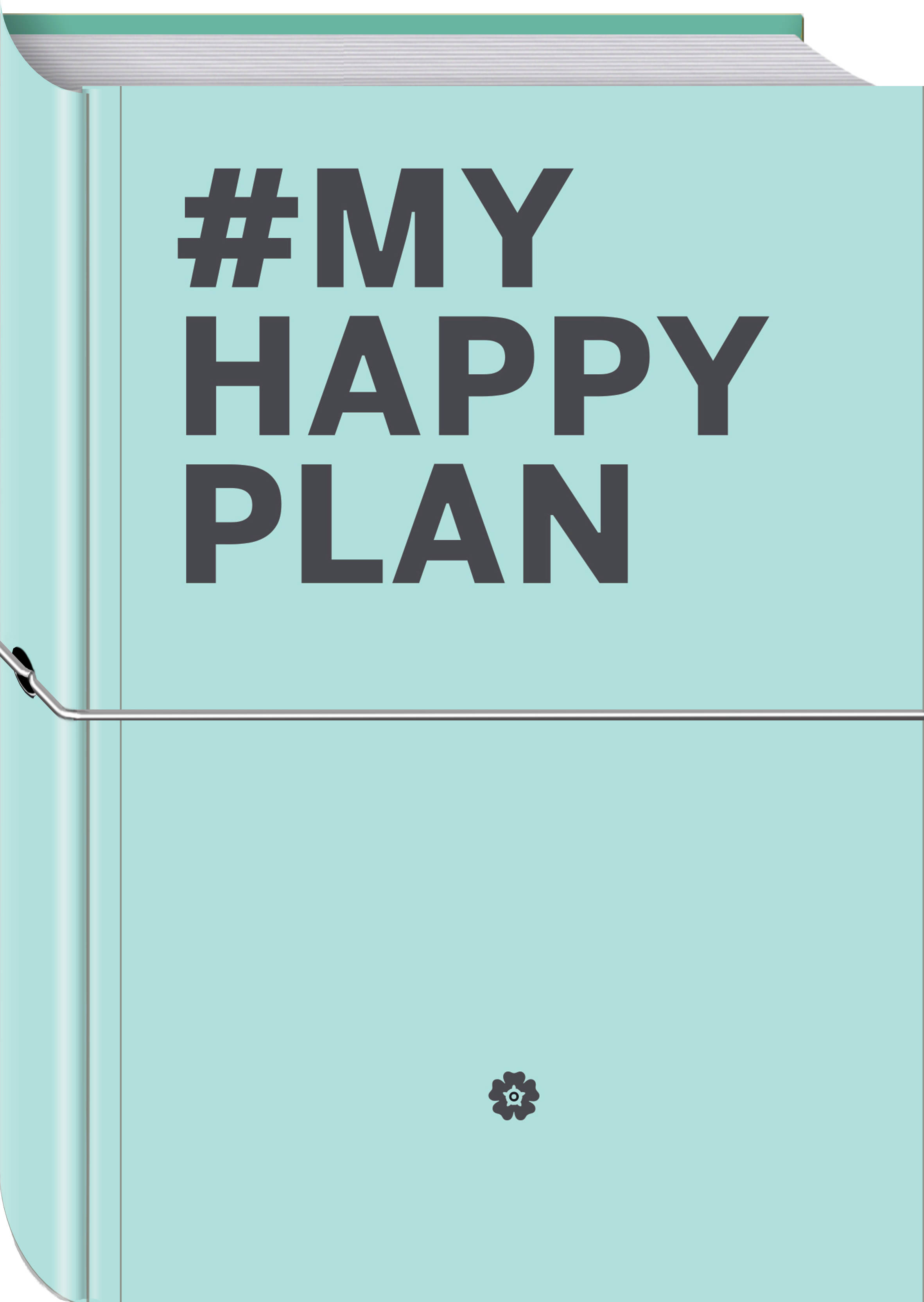 My Happy Plan (Мятный) (большой формат 165х240, лента ляссе, серебряная резинка) планер my happy plan мятный