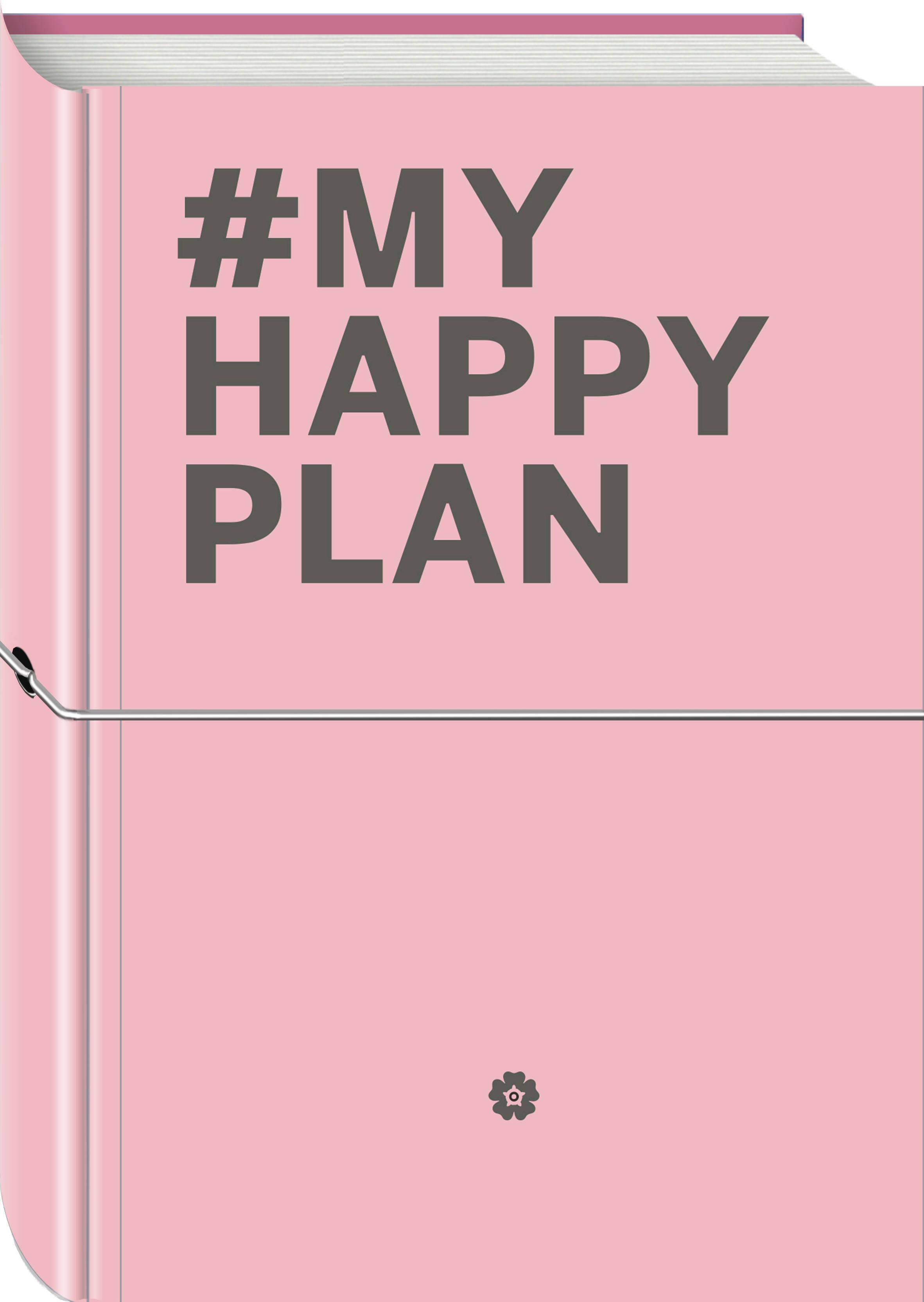My Happy Plan (Пудровый) (большой формат 165х240, лента ляссе, серебряная резинка) my happy plan морской