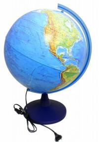 Глобус Земли физический с подсветкой
