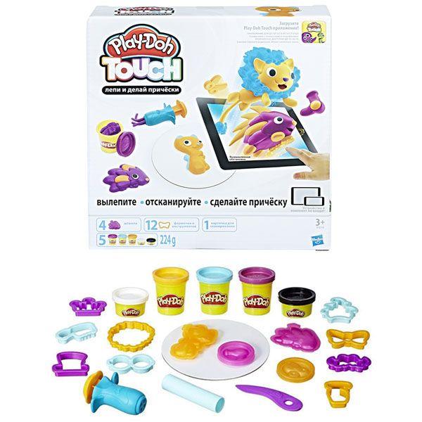 "Play-Doh Touch Набор ""Лепи и делай причёски»  (B9018) PLAY-DOH"